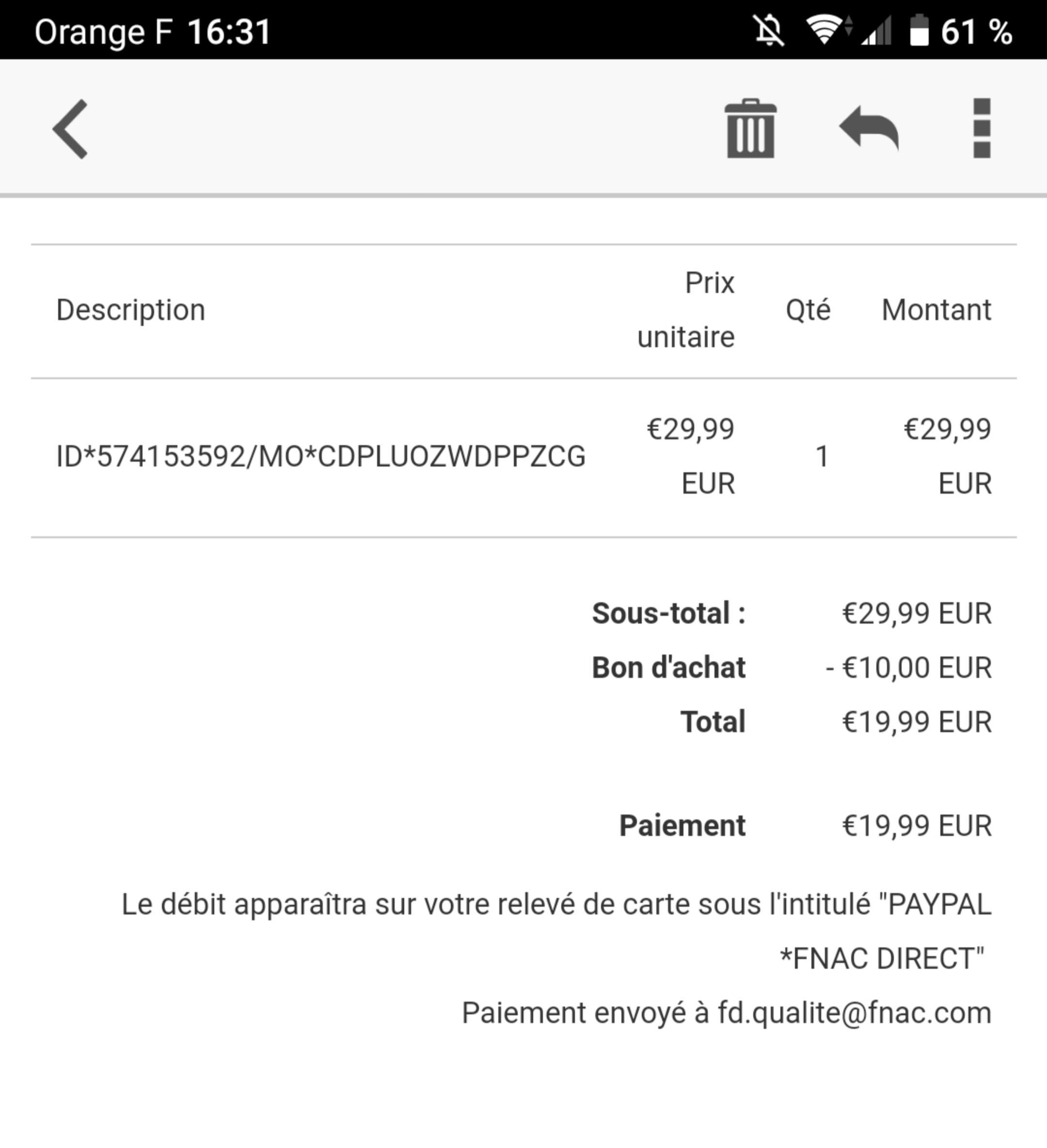 Carte Paypal Fnac.10 De Reduction Sur Fnac Com Via Paypal Les Bons Plans